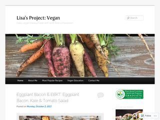 Lisa's Project: Vegan | Easy vegan meals made with love and compassion.