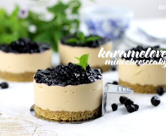 Karamelové mini cheesecaky
