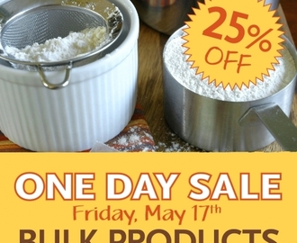 Bulk Bins 25% off at Whole Foods on Friday 5/17