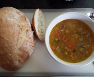 Dave's Winter Vegetable and Ham soup.