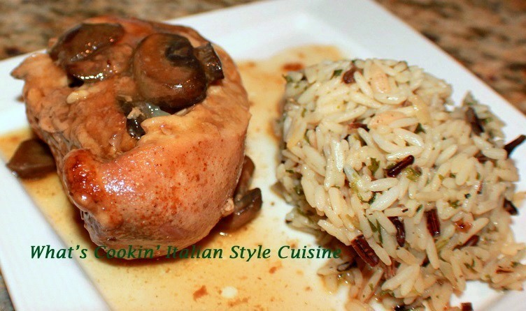 Crockpot Mushroom Wine Chicken and Wild Rice Recipe