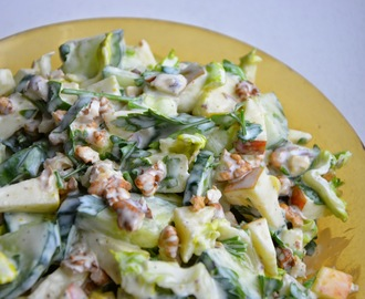 Appel walnoot salade.