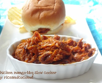 Chicken mango BBQ slow cooker