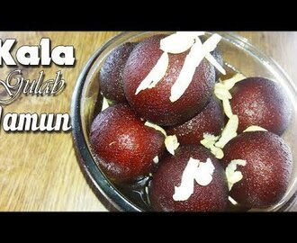 kala gulab jamun recipe | kala jamun recipe with khoya | instant Kala Jamun recipe - YouTube