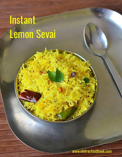 Lemon Sevai Recipe – Instant Rice Sevai Recipes