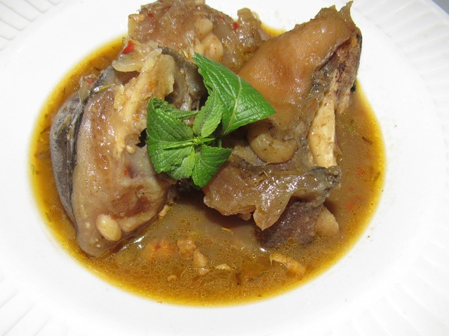 Nigerian Cow Leg Pepper Soup