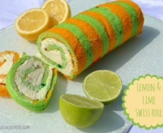 Lemon & Lime Swiss Roll – Great British Bake Off 2014!