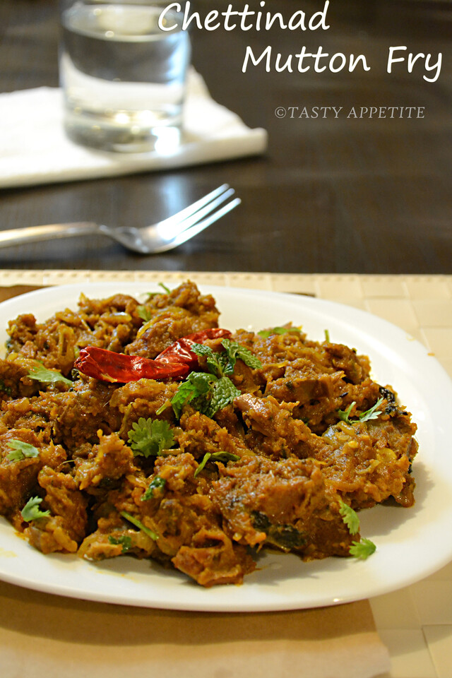 How to make Chettinad Mutton Fry / Kari Varuval / Spicy Mutton Fry / Pepper Mutton Fry: