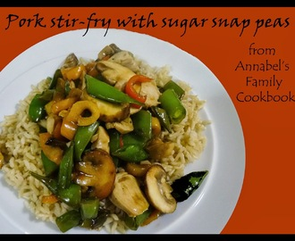 Annabel Karmel's Pork Stir-fry with Sugar Snap Peas