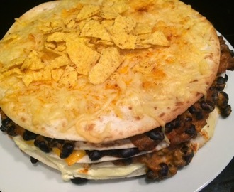 Warme wrap, tortilla taart