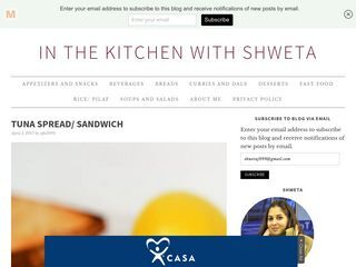 in the kitchen with shweta