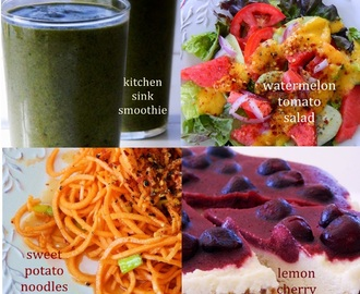 Raw Food Menu: June 2, 2013 & Meal Plan Week Eleven