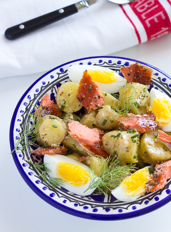 Potato Salad with Smoked Salmon and Eggs