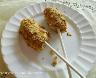 Josh's  Frozen Banana Crunch Pops