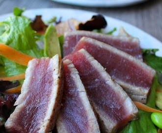 Seared Ahi Tuna Salad with Citrus Ginger Dressing