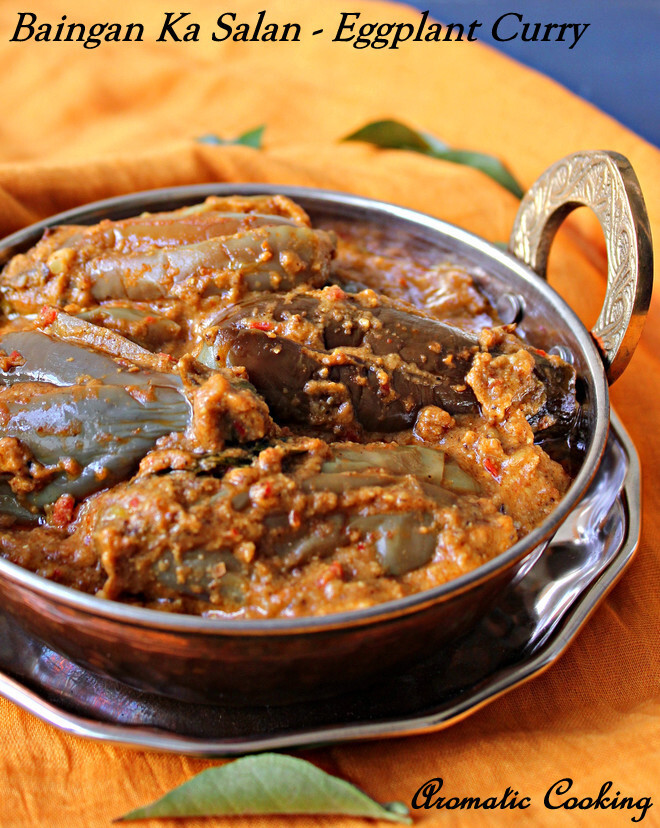 Baingan Ka Salan/ Eggplant Curry With Peanuts And Sesame