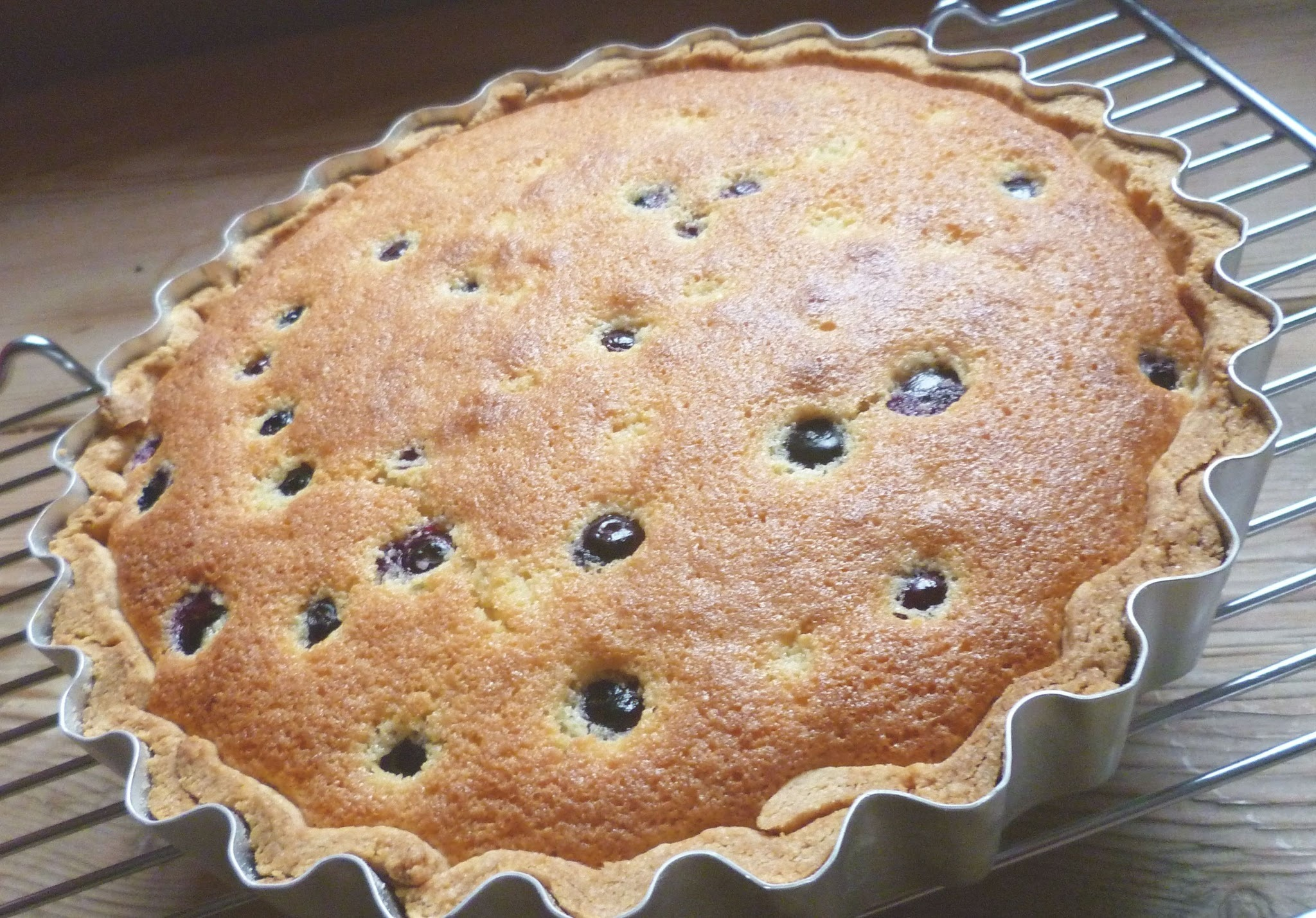 'Bake it well' blueberry, lemon and raspberry jam tart
