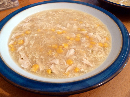 Chinese-Style Chicken and Sweetcorn Soup