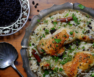 Chicken with Caramelized Onion & Cardamom Rice