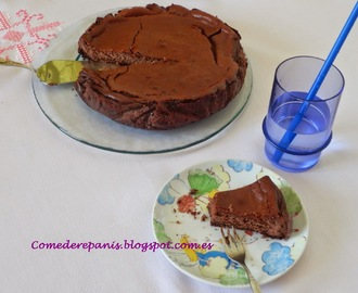 Pastel de queso y chocolate