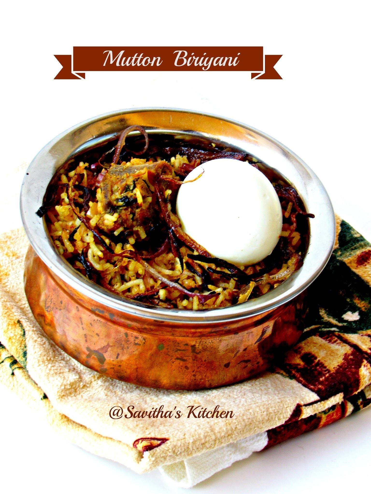 Kayalpatnam special Mutton biriyani / An exotic biriyani with rich  flavour- - with step wise pictures