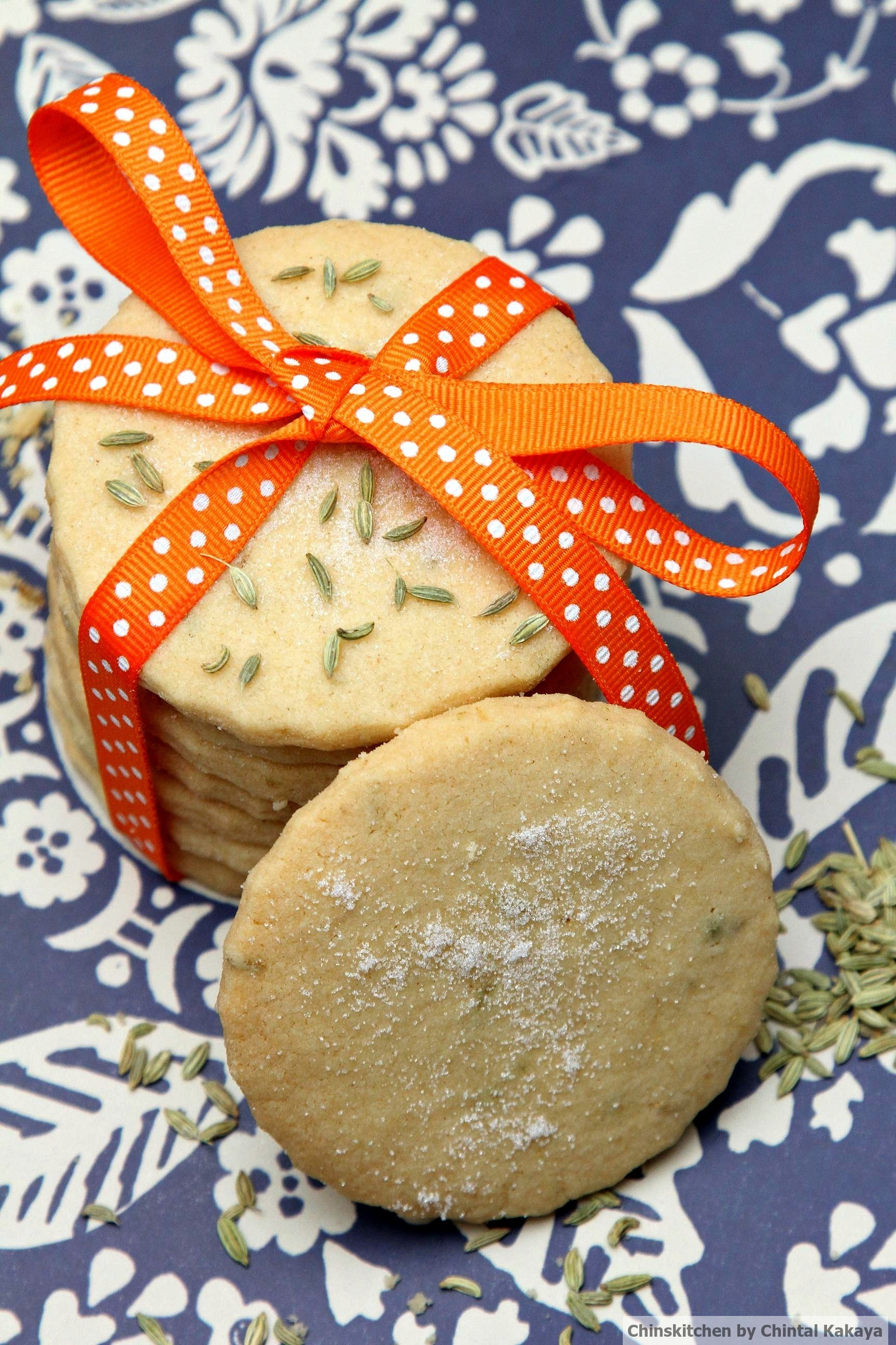 Fennel and Orange Shortbread Biscuits