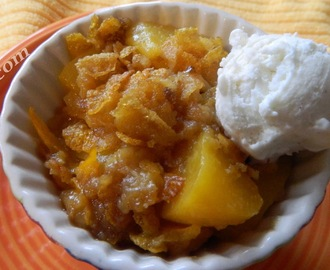 Easy Crispy Pantry Peach Cobbler (Skinny Version)