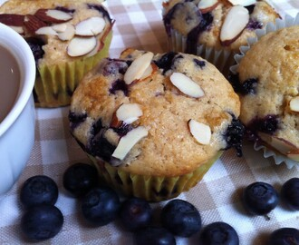 Blueberry, Almond Muffins for a Rainy Day