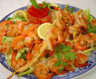 Lemongrass Grilled Shrimp