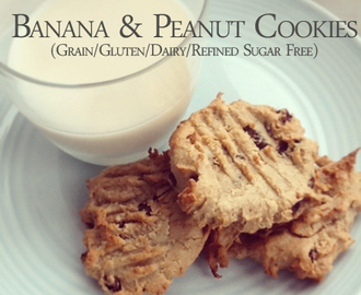 Simple Snacks: Banana & Peanut Butter Cookies (gluten/dairy/grain/refined sugar free!)