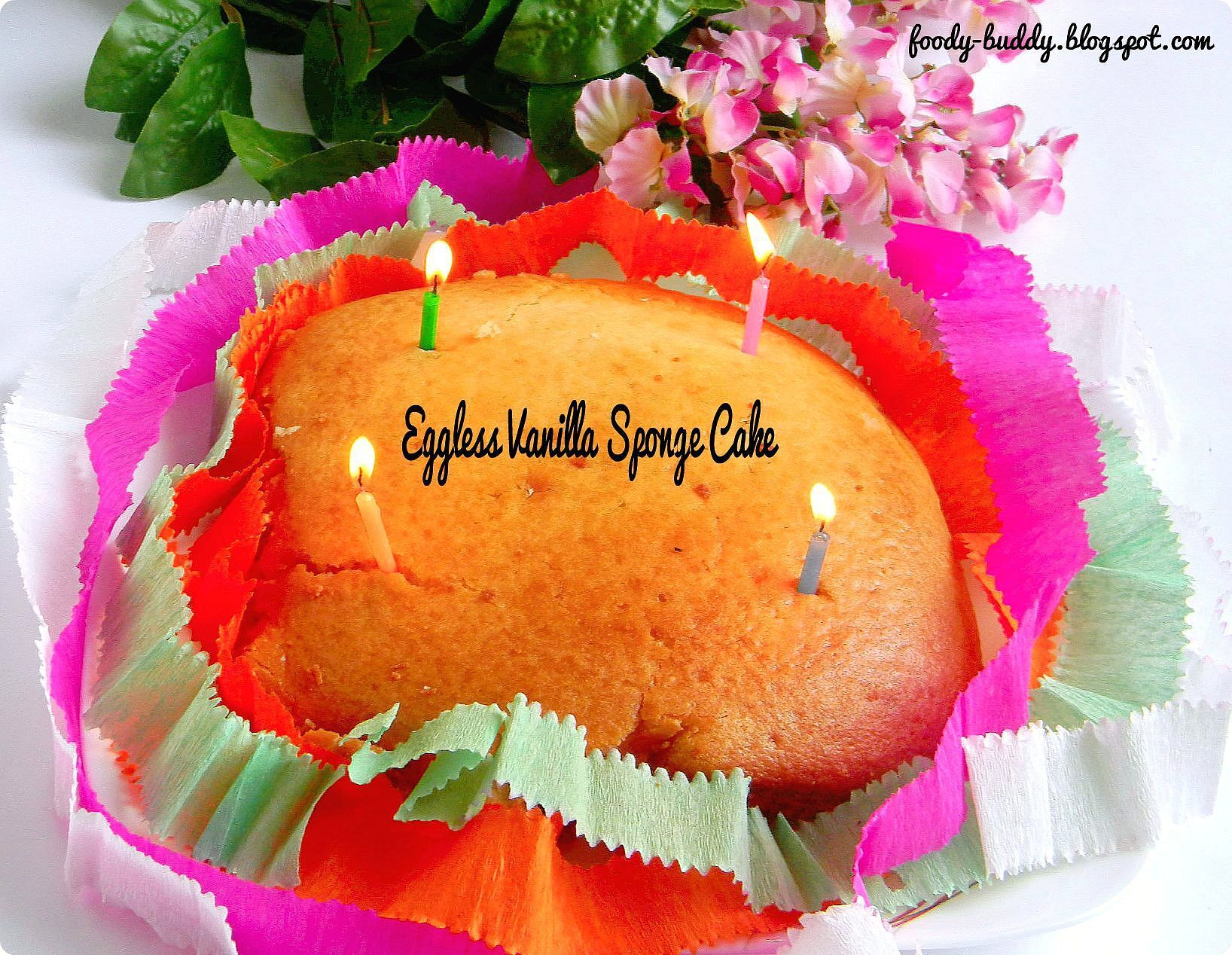 Eggless Vanilla Sponge Cake Using Yogurt / No Egg No Butter Recipe / Step by step Procedure