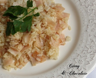 Arroz salteado con pechuga de pavo y salsa de soja – Stir-fried rice with turkey breast and soy sauce