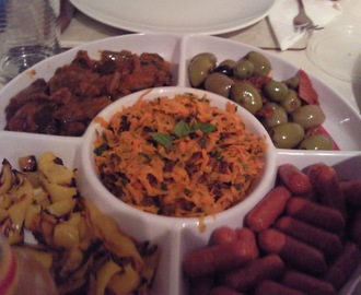 Spiced Carrot and Sultana salad, Lamb Koftas and more!