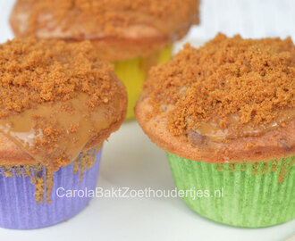 Koffieleutjes muffins met speculoos frosting