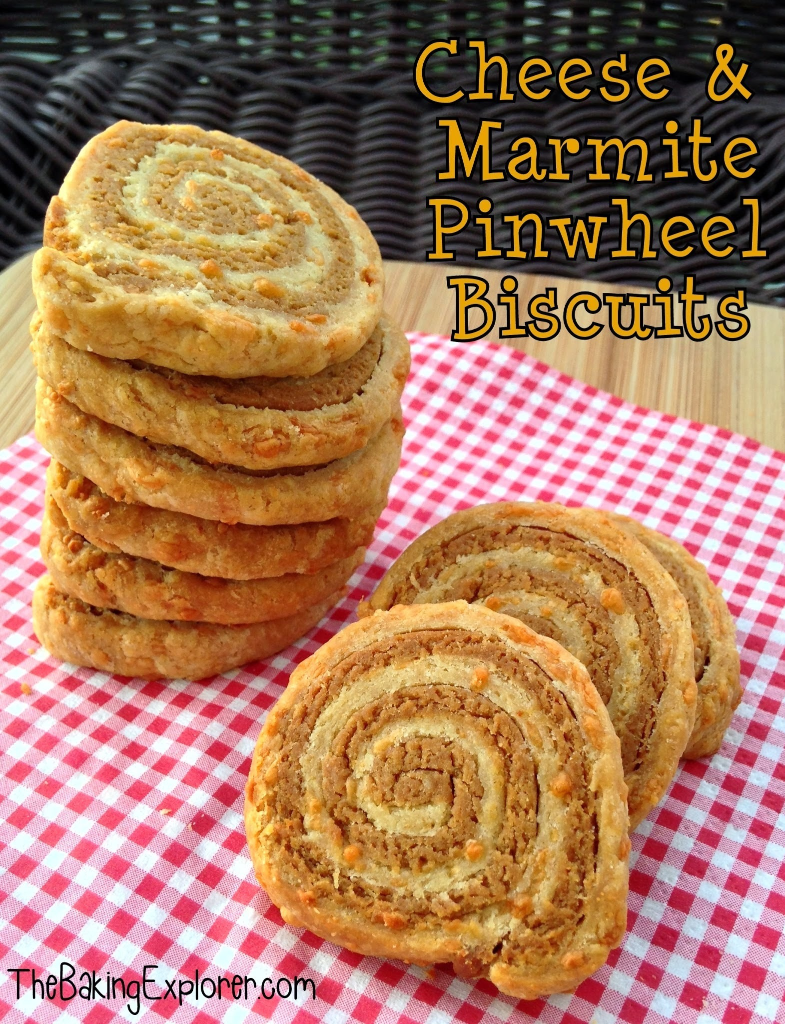 Cheese & Marmite Pinwheel Biscuits: GBBO Week #2