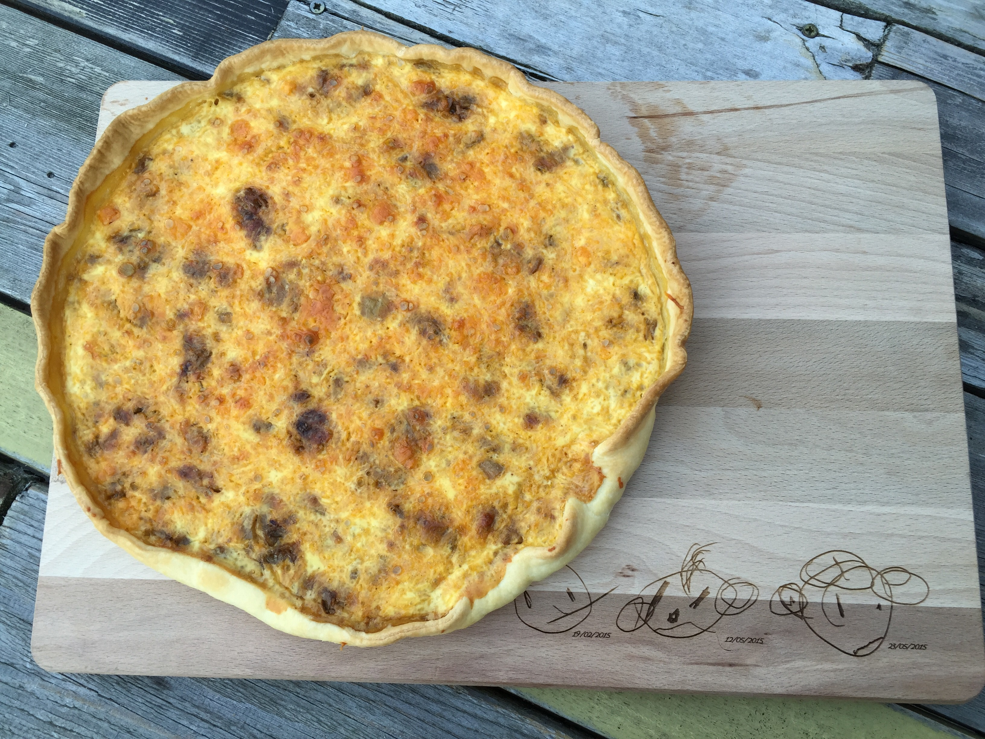 Quiche met witloof en cheddar
