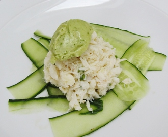 Crab Salad with Avocado Sorbet