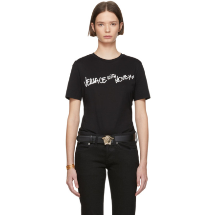 Versace Black Versace With Love T-Shirt