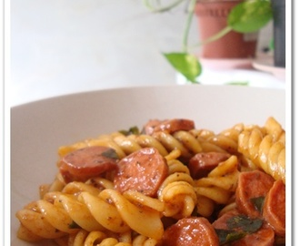 Saucy Pasta with Sausages