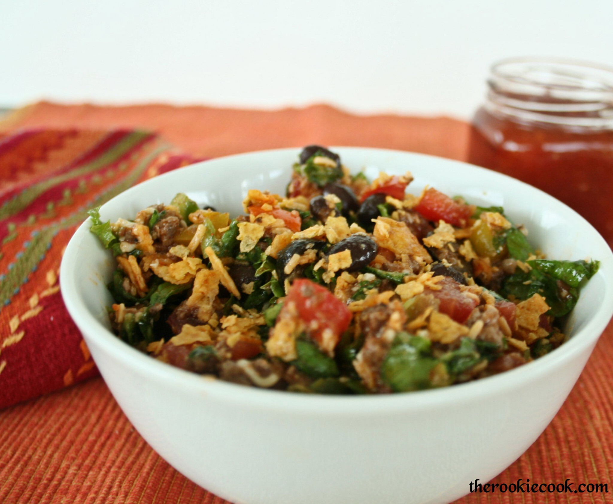 Chopped Fiesta Taco Salad with Homemade Catalina Dressing