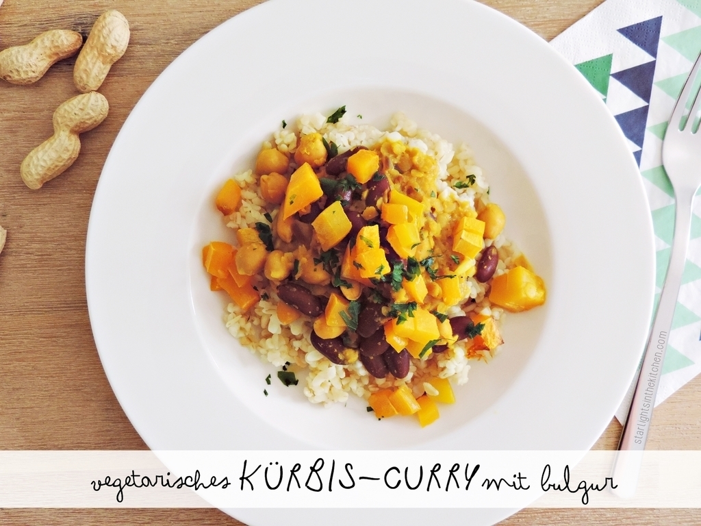 [FOOD] Es herbst'lt: Vegetarisches Kürbis-Curry mit Bulgur