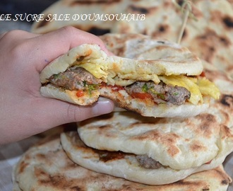 Pains chapatis Tunisien farcis