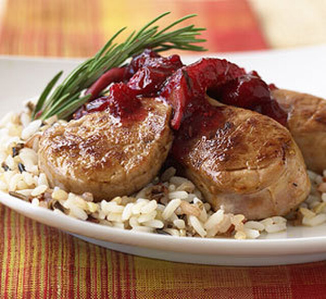 Pork Medallions with Cranberry and Fig Chutney