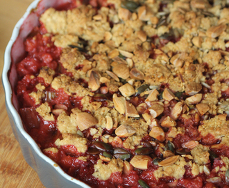 'Crumble de Pipa': rabarber, rood fruit & noten