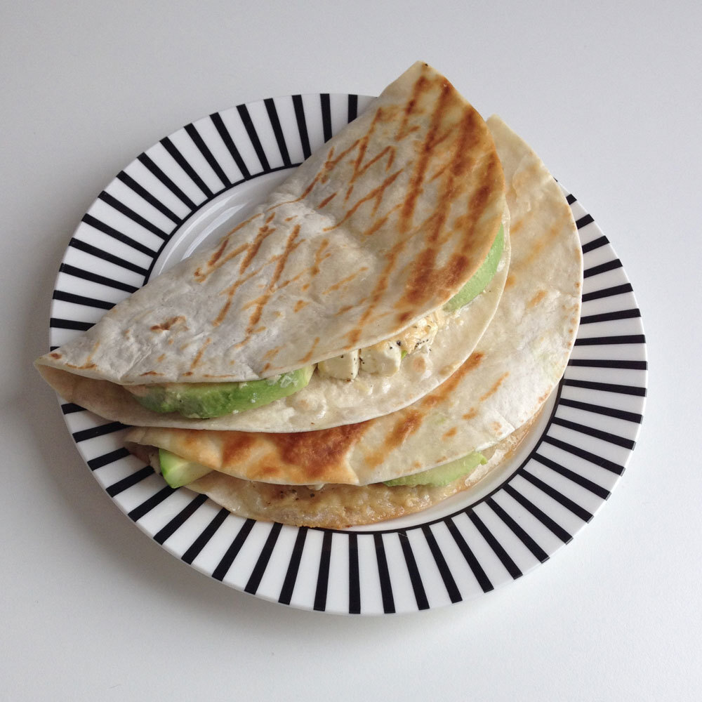 Wraps met hummus en avocado