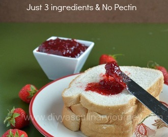 Easy Home made Strawberry Jam - No Pectin required