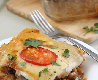 Vegetable moussaka casserole