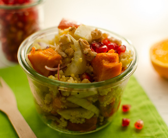 Herbstsalat mit Kürbis, Fenchel und Granatapfel – Autumn salad with pumpkin, fennel and pomegranate