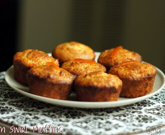 Jam Swirled Eggless Muffins # June Challenge for Baking Eggless