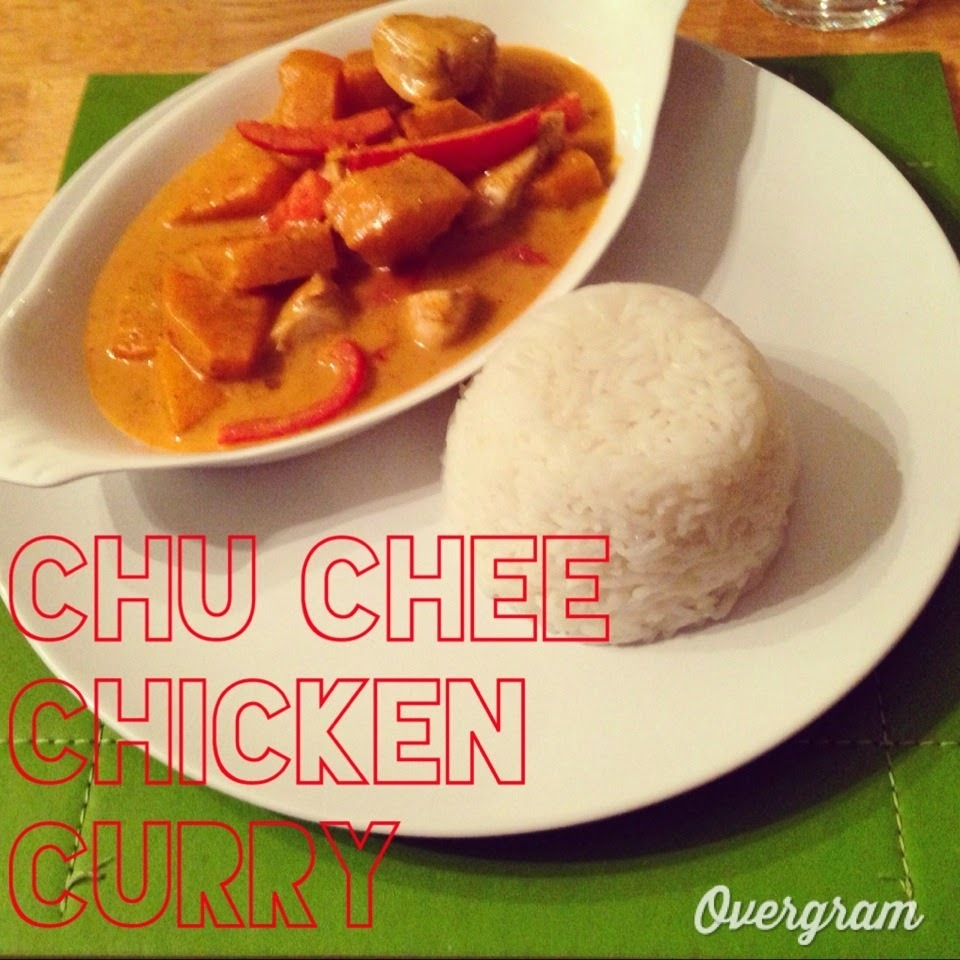 Chu Chee Chicken Curry with Sticky Thai Jasmine Rice